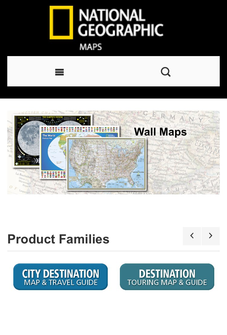 Magento ecommerce migration National Geographic Maps